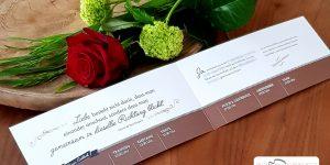 Hochzeit in Corona Hochzeitskarte von DORT-Design by Daniela Theil